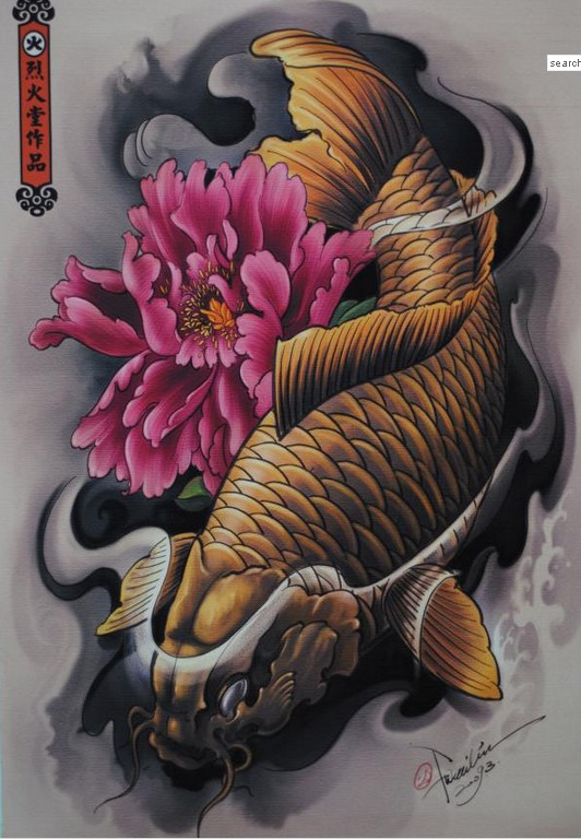 Coy fish tattoo designs quotes for Koi fish quotes